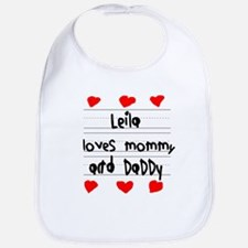 Leila Loves Mommy and Daddy Bib