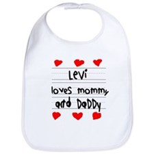 Levi Loves Mommy and Daddy Bib