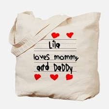 Lila Loves Mommy and Daddy Tote Bag