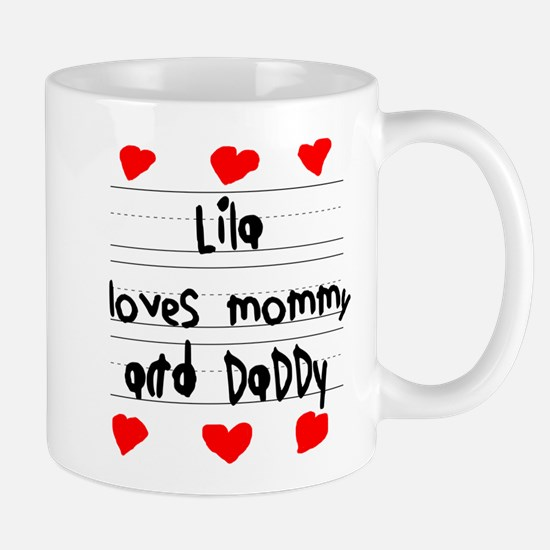 Lila Loves Mommy and Daddy Mug