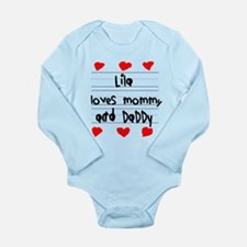Lila Loves Mommy and Daddy Long Sleeve Infant Body