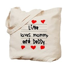 Lina Loves Mommy and Daddy Tote Bag