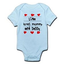Lina Loves Mommy and Daddy Infant Bodysuit