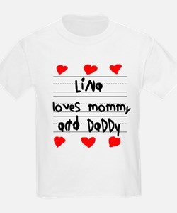 Lina Loves Mommy and Daddy T-Shirt