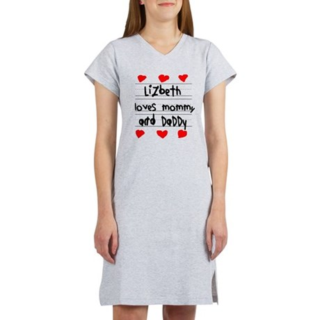 Lizbeth Loves Mommy and Daddy Women's Nightshirt