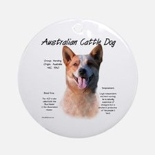 ACD (red speckle) Ornament (Round)