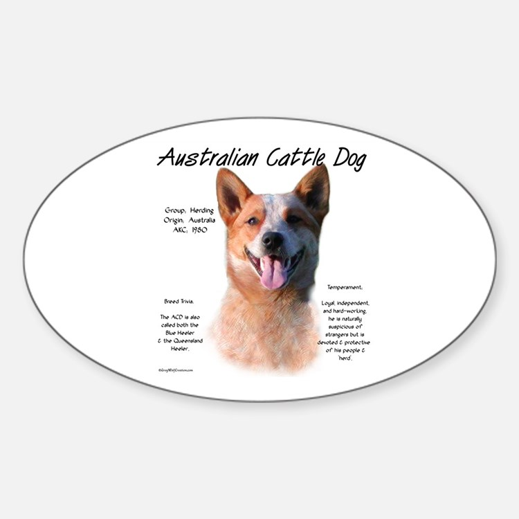 ACD (red speckle) Oval Decal