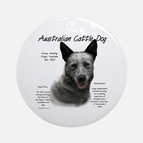 Cattle Dog (blue) Round Ornament