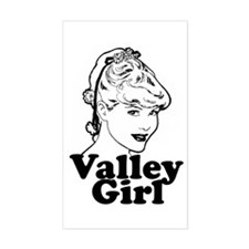 Valley Girl Rectangle Decal