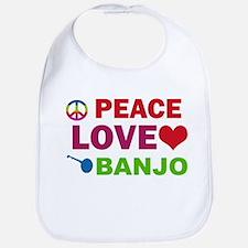 Peace Love Banjo Bib