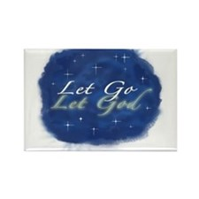 Let Go and Let God w/ Stars Rectangle Magnet