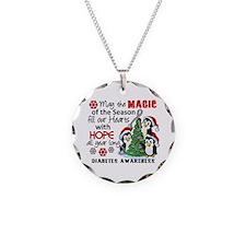 Holiday Penguins Diabetes Necklace Circle Charm