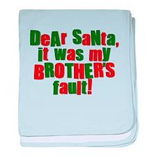 Dear Santa | Brothers Fault baby blanket