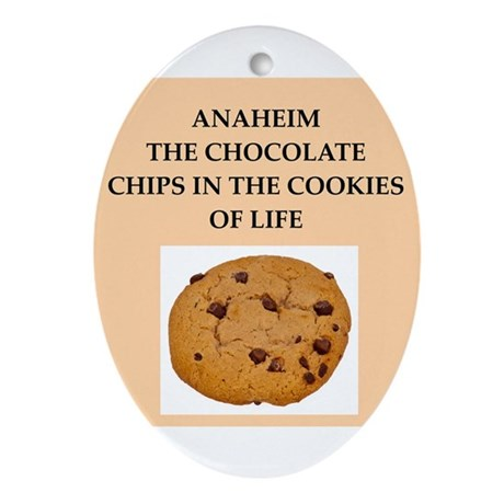 ANAHEIM.png Ornament (Oval)