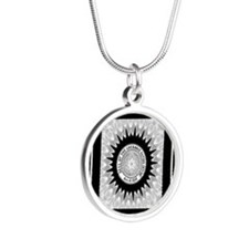 Cherokee Nation.png Silver Round Necklace
