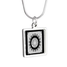 Cherokee Nation.png Silver Square Necklace