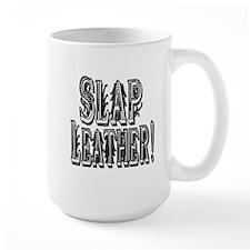 SLAP LEATHER-BLACK WHITE copy.png Mug