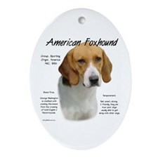 American Foxhound Oval Ornament