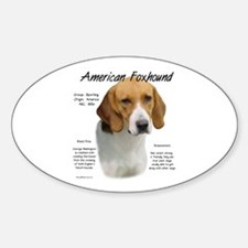 American Foxhound Sticker (Oval)