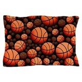 Black basketball Pillow Cases