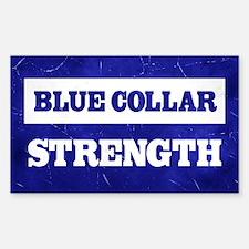 Blue Collar Strength Decal