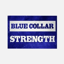 Blue Collar Strength Rectangle Magnet