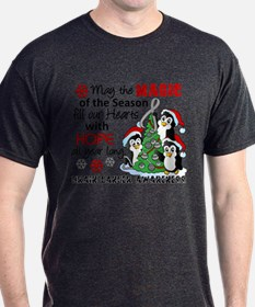 Holiday Penguins Brain Cancer T-Shirt