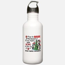 Holiday Penguins Brain Cancer Water Bottle