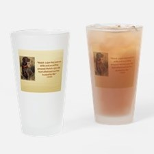WATCH A GUN DOG WORK ON DRILLS (2) Drinking Glass
