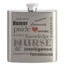 Nurse Pride with Red Heart Flask