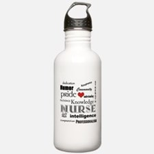 Nurse Pride With Red Sports Water Bottle