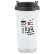 Nurse Pride With Red Heart Travel Mug