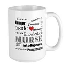 Nurse Pride With Red Heart Mug