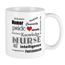 Nurse Pride with Red Heart Small Small Mug
