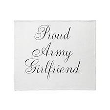 Army Girlfriend Throw Blanket