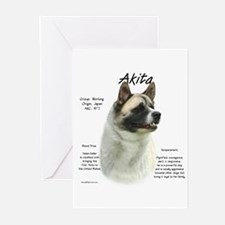 Akita (pinto) Greeting Cards (Pk of 10)