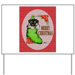 Merry Christmas Puppy Yard Sign