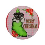 """Merry Christmas Puppy 3.5"""" Button"""