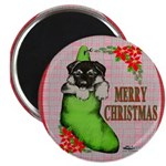 """Merry Christmas Puppy 2.25"""" Magnet (100 pack)"""