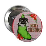 """Merry Christmas Puppy 2.25"""" Button"""
