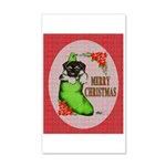 Merry Christmas Puppy 35x21 Wall Decal