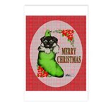 Merry Christmas Puppy Postcards (Package of 8)