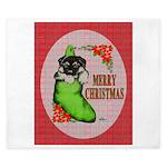 Merry Christmas Puppy King Duvet