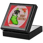 Merry Christmas Puppy Keepsake Box