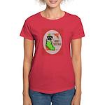 Merry Christmas Puppy Women's Dark T-Shirt