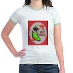 Merry Christmas Puppy Jr. Ringer T-Shirt