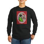 Merry Christmas Puppy Long Sleeve Dark T-Shirt