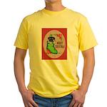 Merry Christmas Puppy Yellow T-Shirt