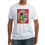 Merry Christmas Puppy Fitted T-Shirt