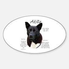 Akita (black) Oval Decal